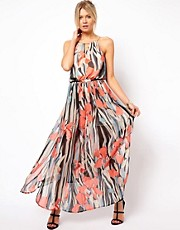 Oasis Chiffon Floral Print Maxi Dress