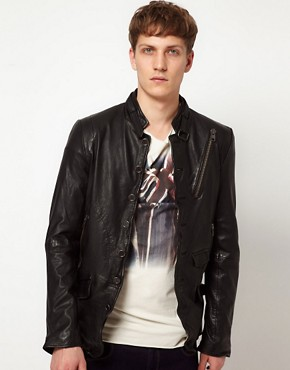 Image 1 ofBolongaro Trevor Tougher Leather Biker Jacket