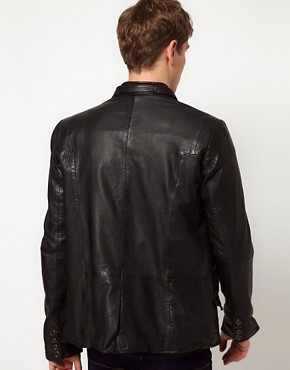 Image 2 ofBolongaro Trevor Tougher Leather Biker Jacket