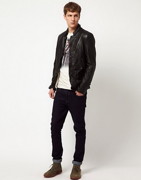 Image 4 ofBolongaro Trevor Tougher Leather Biker Jacket