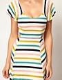 Image 3 of Nookie Beach Club House Stripe Cut Out Beach Maxi Dress