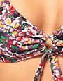 Image 3 ofPaul Smith Long Triangle Bikini Top With Watercolour Floral Print