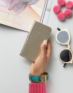 New Look Metallic Perforated Iphone Purse