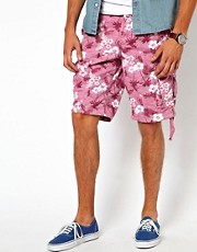 French Connection Shorts Floral Camo