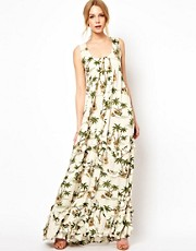 Traffic People Tiered Maxi Dress In Shipwrecked Print
