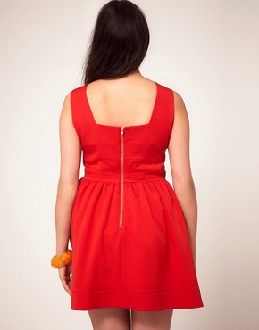 Image 2 ofASOS CURVE Skater Dress With Bow Front