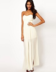 TFNC Maxi Dress with Thigh Split