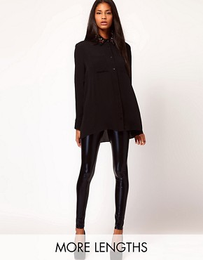 Image 1 of ASOS Ultra Wet Look Leggings