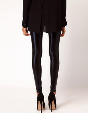 Image 2 of ASOS Ultra Wet Look Leggings