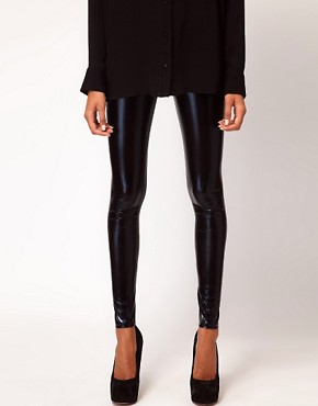 Image 4 of ASOS Ultra Wet Look Leggings