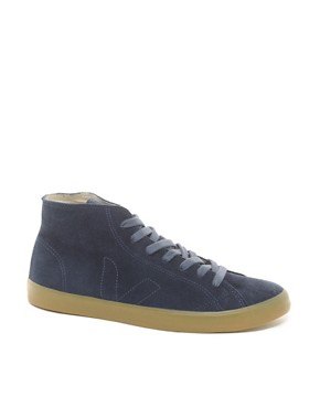 Image 1 ofVeja Indigenous Hi-Top Plimsolls
