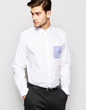 Esprit Formal Shirt with Contrast Pocket