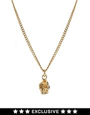Zoe & Morgan Exclusive For ASOS Mini Skull Pendant Necklace