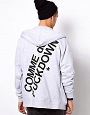 Comme Des F Down Hooded Sweatshirt