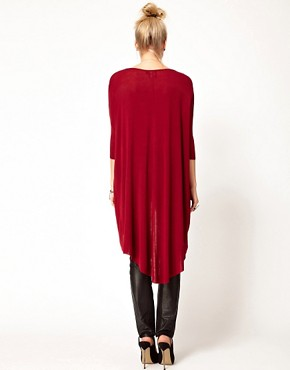 Image 2 ofASOS PETITE Exclusive Dip Back Top With 3/4 Sleeves