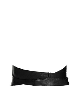 Image 2 ofASOS CURVE Leather Obi Belt With Tie Detail