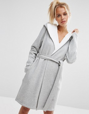 ASOS Jersey Robe With Fleece Lining
