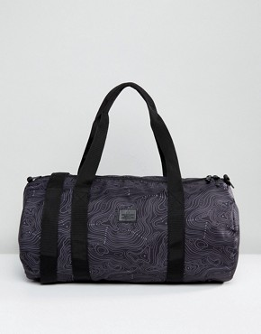 ASOS Barrel Bag With Contour Print In Black