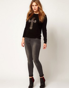 Image 4 ofASOS CURVE Jumper With Embellished Cross