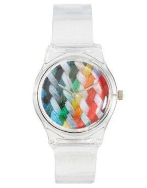 Image 1 ofMAY 28TH Woven Watch Clear Glossy Plastic Buckle