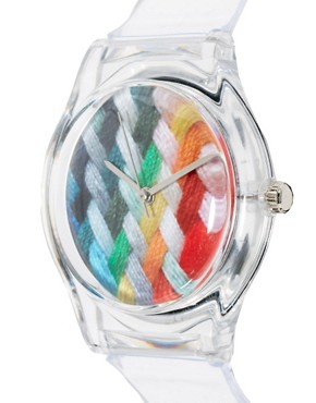 Image 3 ofMAY 28TH Woven Watch Clear Glossy Plastic Buckle