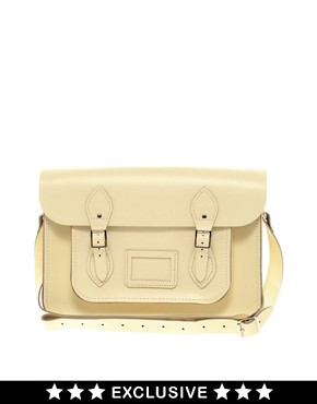 Image 1 ofCambridge Satchel Company Exclusive 14&quot; Leather Satchel