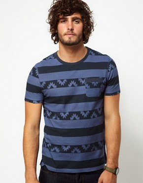 Immagine 1 di ASOS - T-shirt a righe in jersey di piqu
