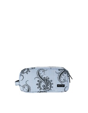Image 1 ofPaul &amp; Joe Blue Paisley Print Cosmetic Bag