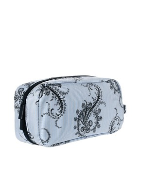 Image 2 ofPaul &amp; Joe Blue Paisley Print Cosmetic Bag