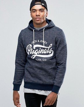 Jack & Jones Hooded Sweat With Front Logo