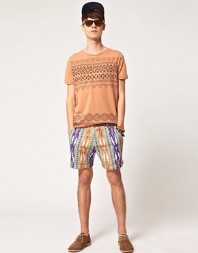 Image 4 ofASOS T-Shirt With Chest And Hem Print