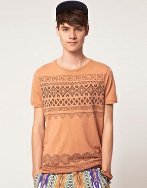 Image 1 ofASOS T-Shirt With Chest And Hem Print