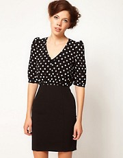 A Wear Spot Contrast Dress
