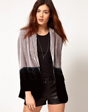 Image 1 ofUnconditional Dip Dye Boyfriend Jacket