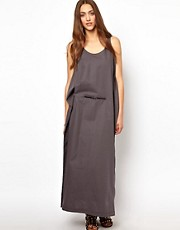 BACK By Ann-Sofie Back Belted Maxi Dress With Skinny Belt