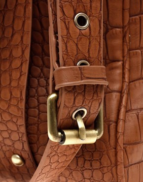 Image 2 ofASOS Faux Croc Day Bag
