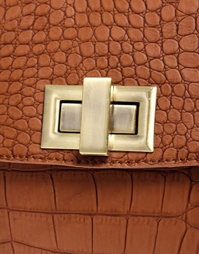 Image 4 ofASOS Faux Croc Day Bag