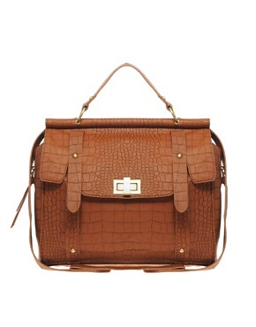 Image 1 ofASOS Faux Croc Day Bag