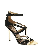 Sam Edelman Alena Black Strappy Sandals