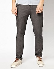 ASOS Slim Chino In Chambray