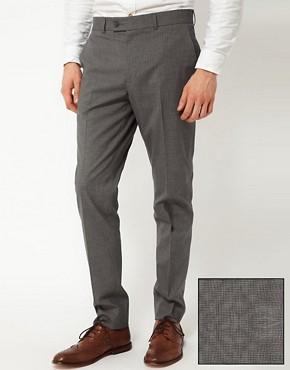 Image 1 ofASOS Skinny Fit Smart Trousers in Dogstooth