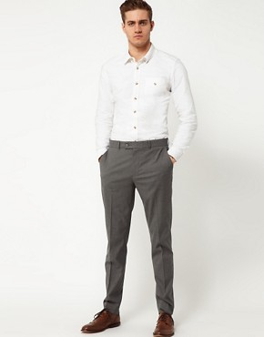 Image 4 ofASOS Skinny Fit Smart Trousers in Dogstooth