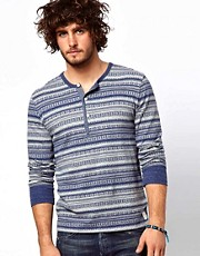 Denim &amp; Supply Ralph Lauren Pattern Henley T-Shirt