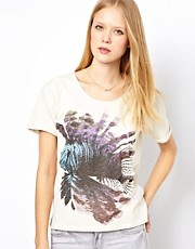 Selected  T-Shirt mit abstraktem Druckmotiv