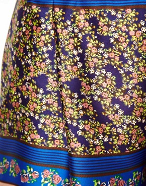 Image 3 ofASOS Silky Shorts in Floral Print