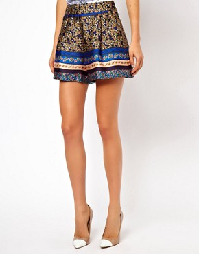 Image 4 ofASOS Silky Shorts in Floral Print