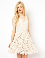 French Connection Lace Overlay Dress