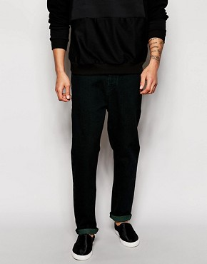 ASOS Tapered Jeans In Washed Black