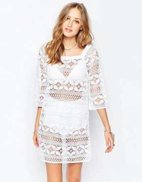 Gypsy 05 Crochet Ivory Mini Dress