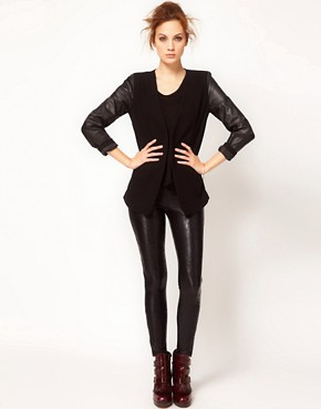 Image 1 ofKova &amp; T Side Zip Oxy Leggings